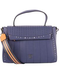bdd5a455f436 Dior Preowned Navy Trotter Canvas Saddle Bag in Blue - Lyst