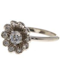 Adornia - Flower Power Ring Silver With Swarovski Crystal - Lyst