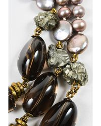 Stephen Dweck - 1 Bronze Pearl Smoky Quartz Multi Strand Statement Necklace - Lyst