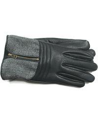 Joseph Abboud - Tweed Deerskin Zipper Gloves - Lyst