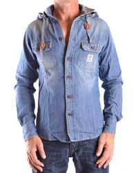 Franklin & Marshall - Men's Blue Cotton Shirt - Lyst