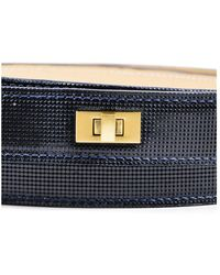 Lela Rose - 11 Nwt Navy Blue Gold Tone Hardware Double Wrap Belt Sz S - Lyst