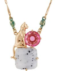 Les Nereides - Ostentatious Obscurity Egyptian Cat On Stone Necklace - Lyst