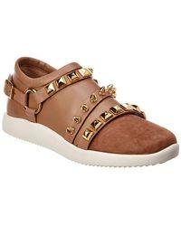 Giuseppe Zanotti - Stud Leather & Suede Sneaker - Lyst