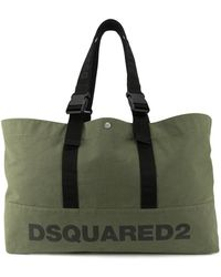 DSquared² - Men's Green Canvas Tote - Lyst