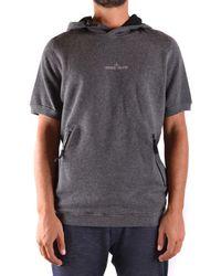 Stone Island - Men's Grey Cotton Sweatshirt - Lyst
