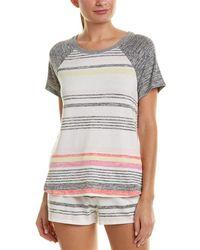 Kensie - Striped T-shirt - Lyst