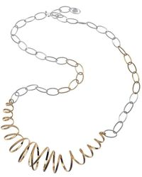 Jewelista - 22k Vermeil & Silver Adjustable Necklace - Lyst