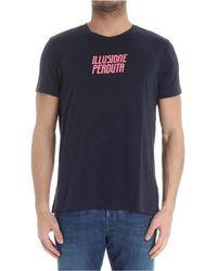 Aspesi - Men's Blue Cotton T-shirt - Lyst
