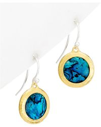 Gurhan - Amulet Hue 24k & Silver Paua Shell Drop Earrings - Lyst