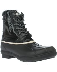 Michael Kors - Michael Easton Bootie Short Logo Rainboots - Black/white - Lyst