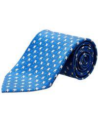 Ferragamo - Blue Eel Silk Tie - Lyst