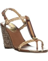 MIA - Tiffany Ankle Strap Wedge Sandals, Natural - Lyst
