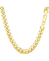 Jewelry Affairs - 14k Yellow Gold Miami Cuban Link Chain Necklace - Width 5.8mm, 24 Inch - Lyst