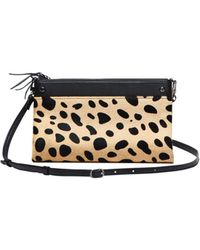 Mofe - Sonder 3-in-1 Convertible Leather Crossbody, Bifold Wallet & Clutch With Cheetah-print Calf Hair - Lyst