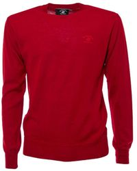 Beverly Hills Polo Club - Men's Bhpc2241red Red Wool Sweater - Lyst