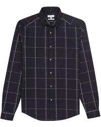 Reiss - Pastrana Window Check Slim Fit Shirt - Lyst