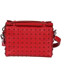 Tod's - Women's Red Leather Shoulder Bag - Lyst