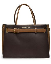 Adrienne Vittadini - Laptop Tote With Belt Buckle Feature - Lyst