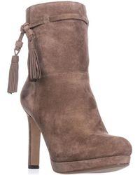 Via Spiga - Bristol Pull On Tassel Ankle Boots, Dark Taupe - Lyst