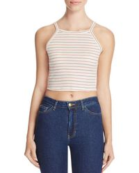Nation Ltd - Womens Sleeveless Striped Crop Top - Lyst