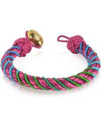 Aurelie Bidermann - Women's Fuchsia Canvas Bracelet - Lyst