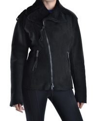 DSquared² - Women's Mcbi107169o Black Leather Outerwear Jacket - Lyst