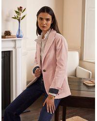 Boden Victoria Cord Blazer Milkshake - Pink