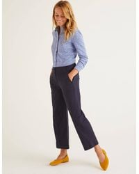 Boden Daisy Cropped Chino Trousers - Blue