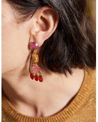 Boden Boucles d'oreilles chandelier ornementées - Rose