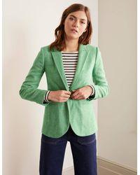 Boden Atkins British Tweed Blazer Herringbone - Green
