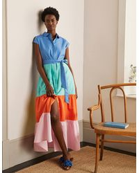 Boden - Betty Maxi Shirt Dress Marina - Lyst