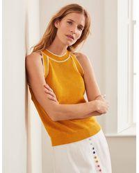 Boden Denbigh Knitted Vest - Yellow