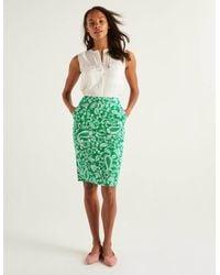 Boden Gabriella Pencil Skirt Rich Emerald, Spotty Paisley - Green