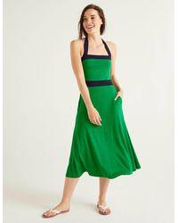 Boden Santorini Jersey Dress Rich Emerald - Green
