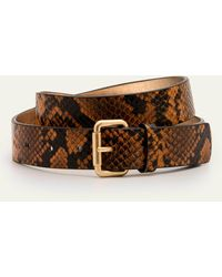 Boden Classic Buckle Belt Camel Snake - Brown