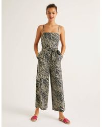 Boden Colette Linen Jumpsuit - Natural