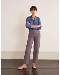 Boden - Rothes Seam Detail Pants Pewter - Lyst