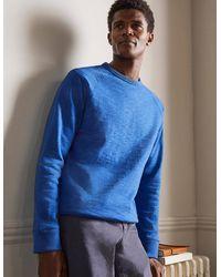 Boden Danby Brushed Sweatshirt Inky Men , Inky - Blue