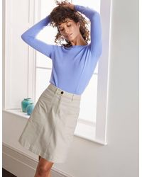 Boden Mini-jupe Abingdon - Blanc