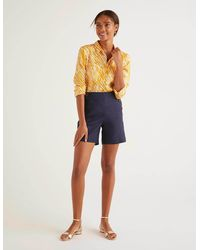 Boden Falmouth Linen Shorts - Blue
