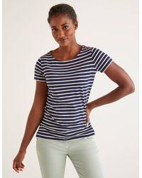 Boden Short Sleeve Breton - Blue