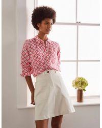 Boden Linen Shirt Lollipop, Tile - Pink