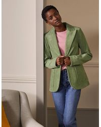 Boden Victoria Cord Blazer Light Olive - Green