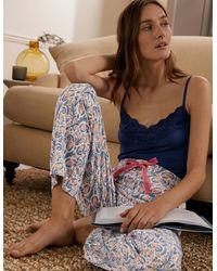 Boden Vanessa bequeme schlafanzughose ivo - Mehrfarbig