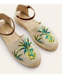 Boden Peggy Espadrilles Chartreuse Pineapple - Yellow