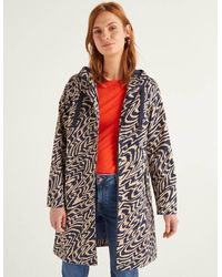 Boden Lawrence Waterproof Raincoat And Oatmeal, Ripple - Blue