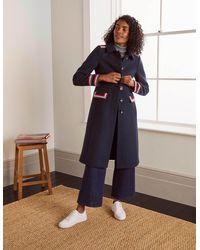 Boden Middleham Trim Coat - Blue