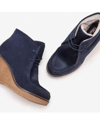 Boden Brundall Stiefel mit Keilabsatz NAV - Blau