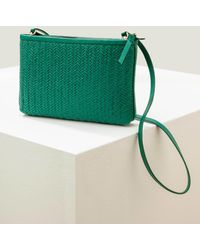 Boden Titania Woven Clutch Forest - Green